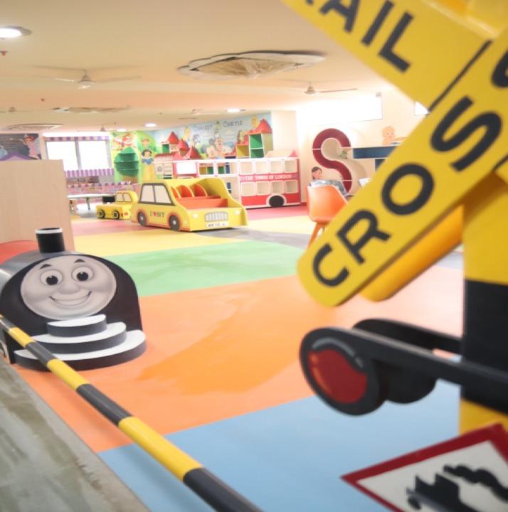 Thomas Train railway crossing play area for preschoolers